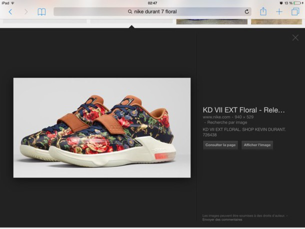 shoes nike kevin durant 7 floral