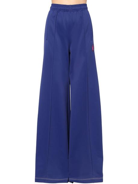 MARNI Techno Jersey Wide Leg Pants in blue