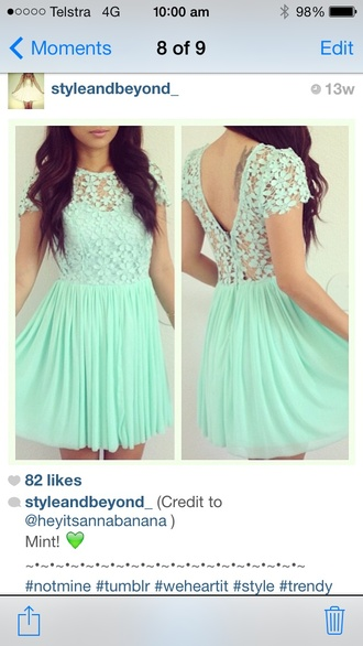 dress mint teal aqua pastel blue dress lace dress