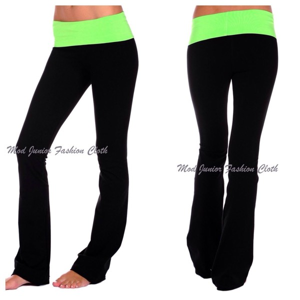 yoga yoga pants workout workout gym clothes fit workout leggings leggings gym pants green black pants black leggings