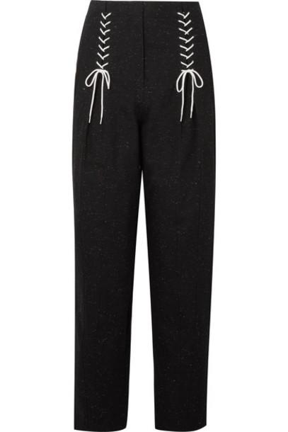 Tibi pants lace cotton black