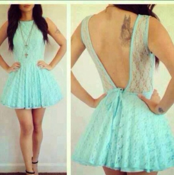 dress pastel blue dress lace dress cute dress