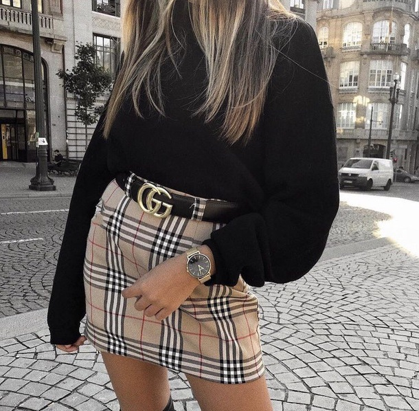 skirt plaid plaid skirt mini skirt clothes fashion