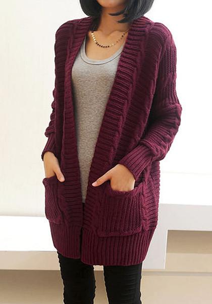 Chunky knit port cardigan