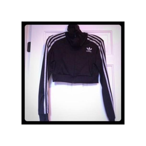 jacket black adidas cropped firebird white adidas cropped jacket