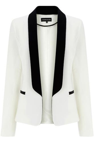 blazer contrast blazer black white classy black and white