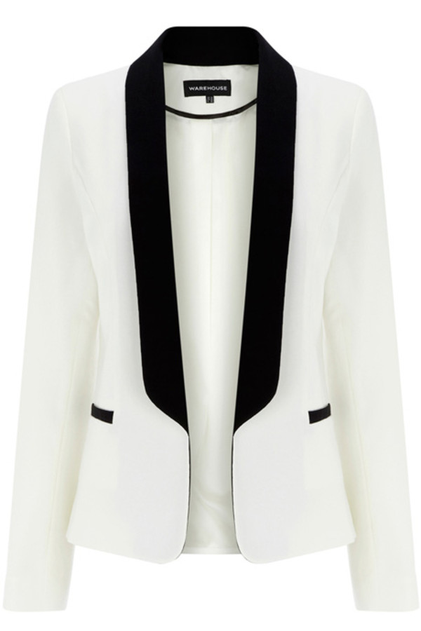 White And Black Blazer Womens | Fashion Ql