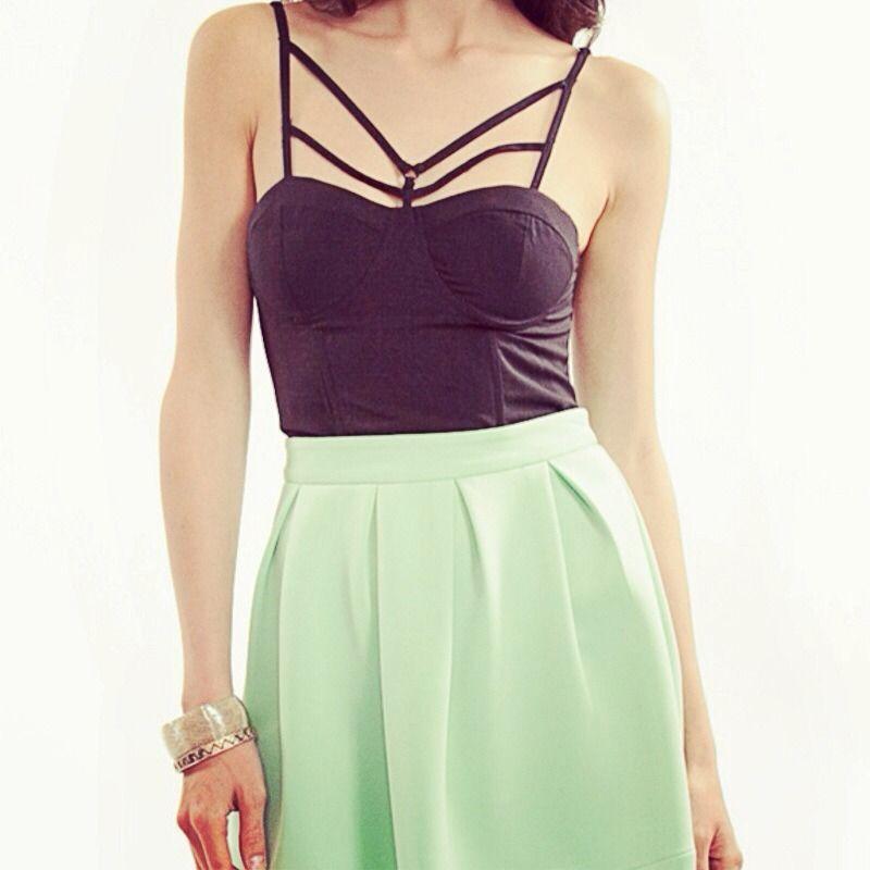 Tobi moulin bustier corset crop top