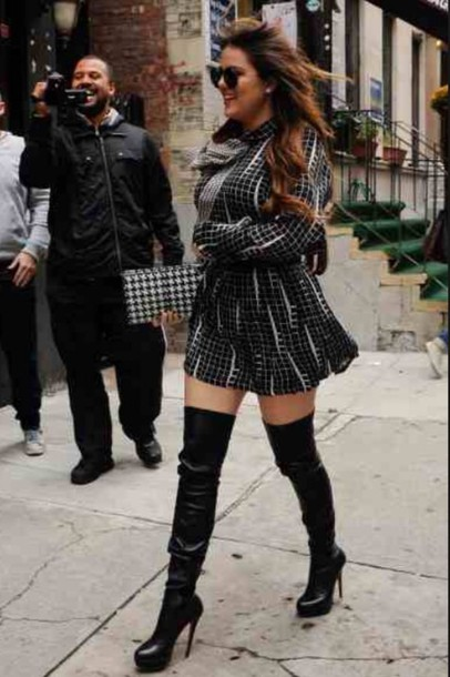 Shoes: khloe kardashian thigh high boots boots winter boots