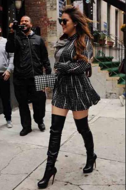 Shoes Khloe Kardashian Thigh High Boots Boots Winter