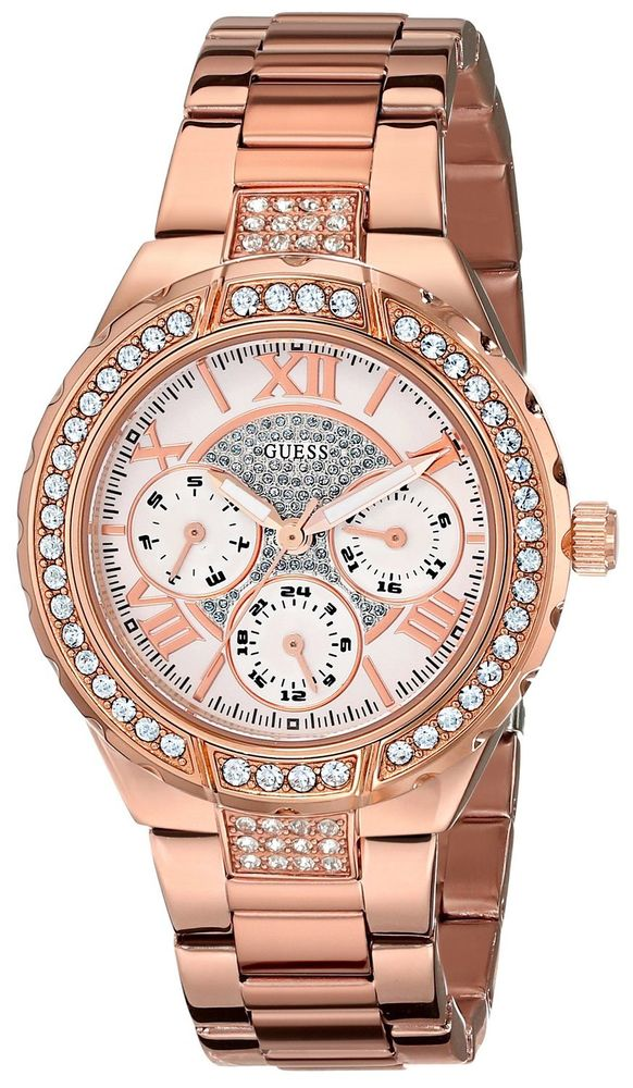 Amazonfr  Or Rose Montre Guess