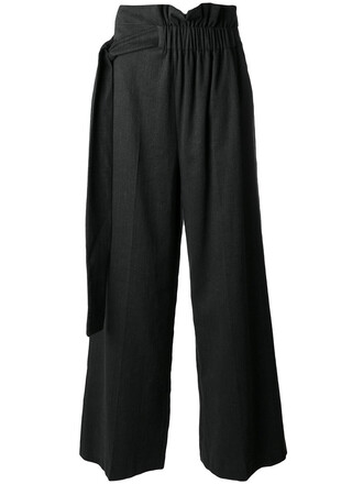 pants palazzo pants women cotton black