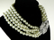 Kenneth jay lane 5 row pearl necklace 9082n worn by audrey hepburn kjl