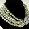 Kenneth jay lane 5 row pearl necklace 9082n worn by audrey hepburn kjl