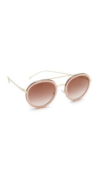 sunglasses round sunglasses pink brown