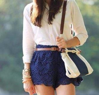 shorts blue shorts lace shorts cute shorts