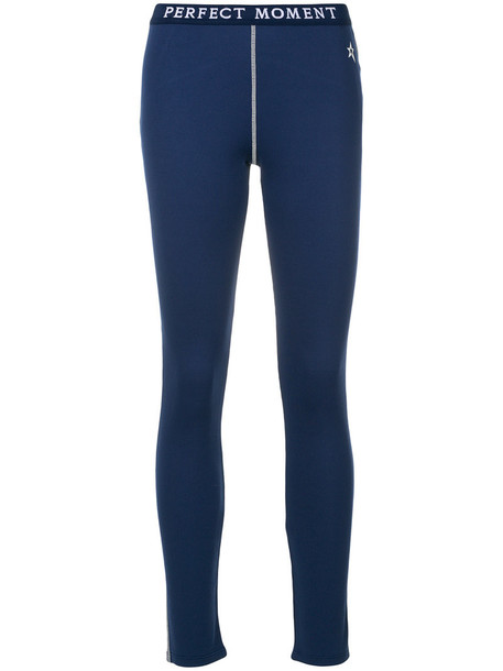 Perfect Moment women blue wool pants