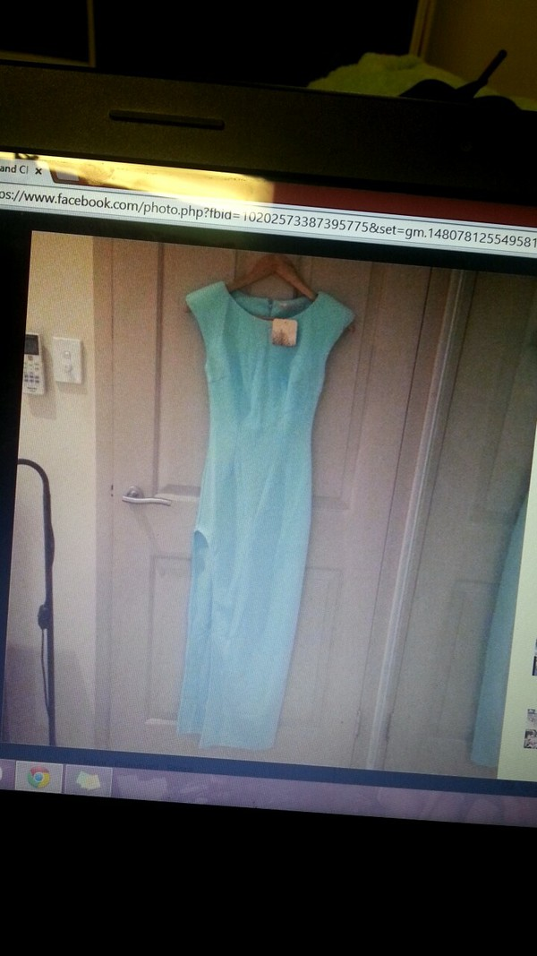 mint dress slit dress formal dress