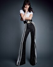 pants,kendall jenner,top,high waisted pants,stylish,medium-size belt,waist belt,helena bordon,blogger
