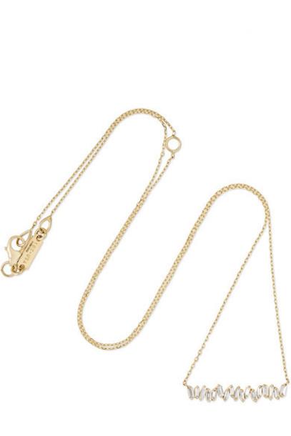 Suzanne Kalan - 18-karat Gold Diamond Necklace