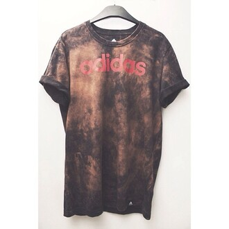 t-shirt adidas vintage adidas space brown t-shirt