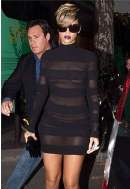 Dress Rihanna Mesh Sheer See