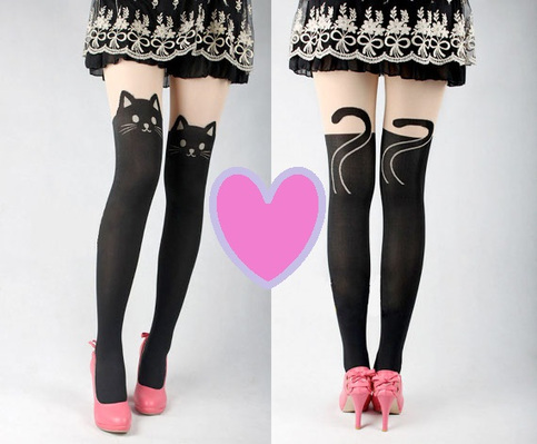 Black Cat Tights · true blue qt · Online Store Powered by Storenvy