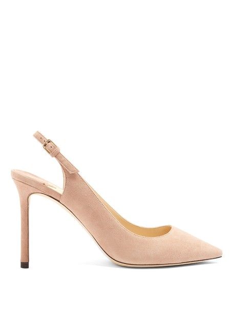 Jimmy Choo back pumps suede nude shoes