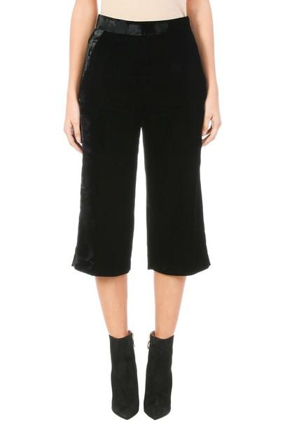 neil barrett black velvet pants