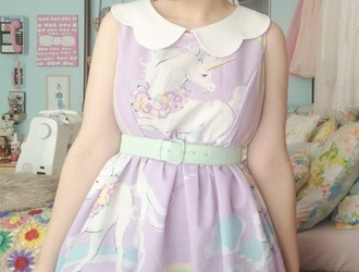 dress kawaii unicorn sweet