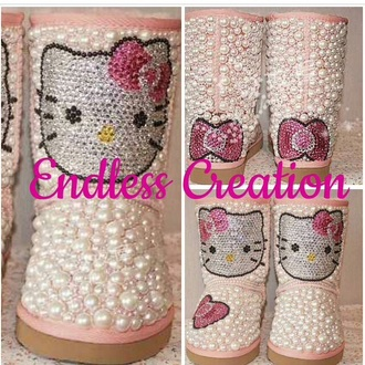 shoes boots hello kitty shoes snow boots pearl winter boots hair accessory