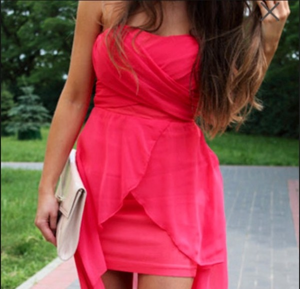 dress red dress pink wrap dress high-low dresses
