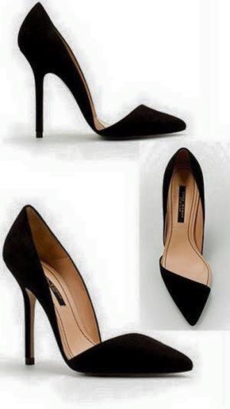 shoes black heels pointy toe heels black high heels