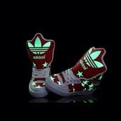 shoes,adidas,adidas shoes,stars,neon