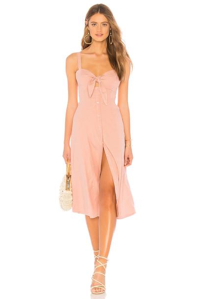 Splendid Dahlia Linen Slub Dress in blush