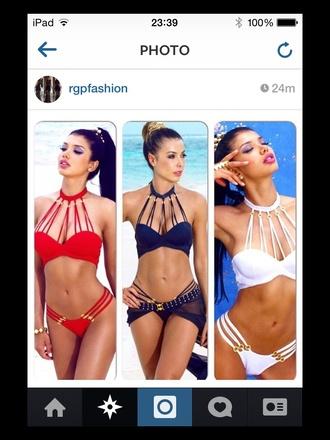 swimwear bikini black bikini red bikini blue bikini style summer bikini