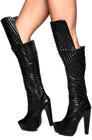 Jeffrey Campbell Boot The Kick Ass in Black -  Karmaloop.com