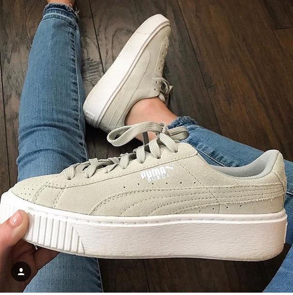shoes, puma, sneakers, platform shoes