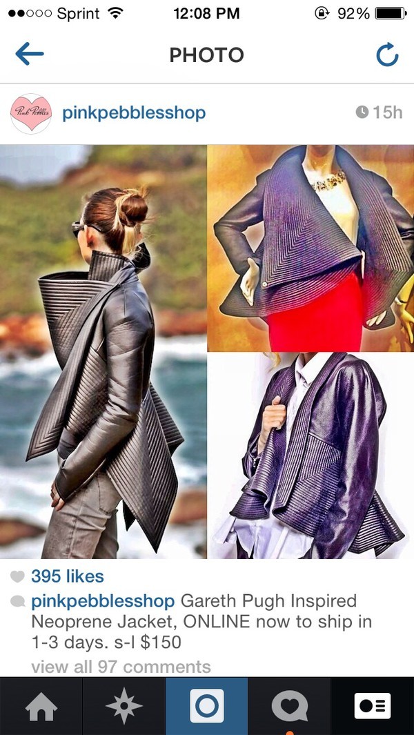 gareth pugh leather jacket outerwear winter outfits coat
