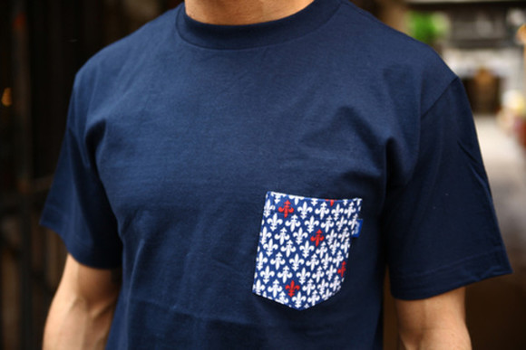 pocket shirt boy navy