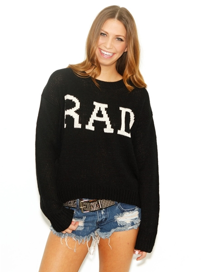 West Coast Wardrobe Black RAD Sweater in Black
