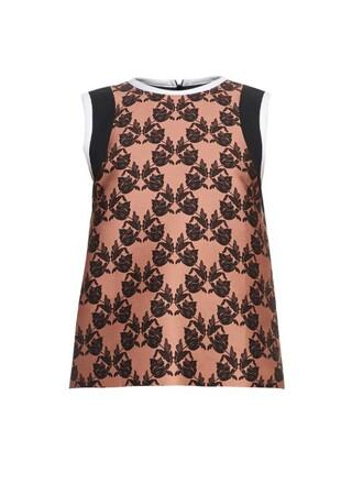 top sleeveless top sleeveless lace print black