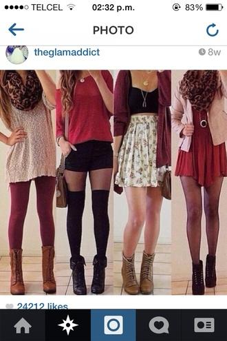 shoes high heels boots heeled boots flats jacket sweater skirt dress shorts