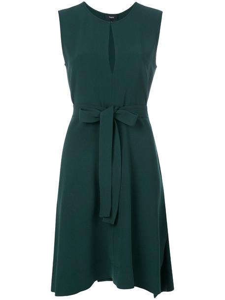 theory dress women spandex green