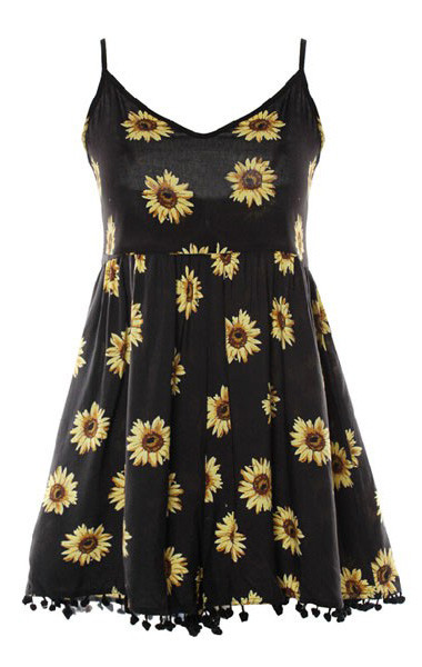 Om sunflower romper – outfit made