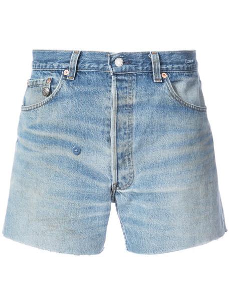 R13 shorts women cotton blue