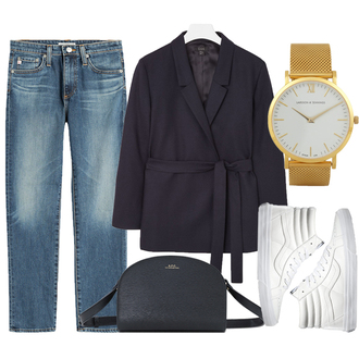 jane's sneak peak blogger jeans fall outfits gold watch high top sneakers vans white sneakers