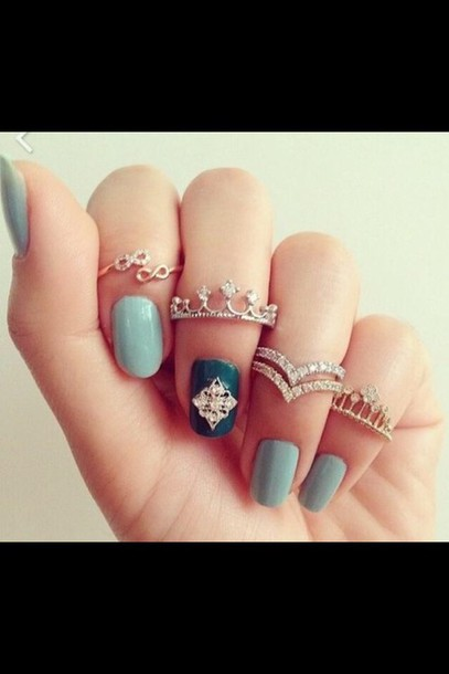 jewels rings gold crown