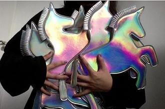 bag metallic unicorn style fashion perfect