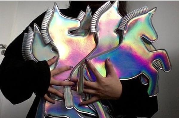 bag metallic unicorn style fashion perfect metallic clutch